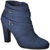 Women's Sam & Libby Sadie Heeled Ankle Boot with Straps - Navy