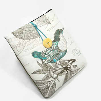 Hand Crafted Tablet Case from Bird in Tree  Fabric /Case for: iPadmini, Kindle Fire HD7, Samsung Galaxy Tab7, Google Nexus 7,Nook HD 7