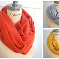 Pumpkin Orange Pashmina Infinity Scarf Most Popular Items Pashmina Cowl Scarf  Scarf Unique Gifts for Teenagers - By PiYOYO
