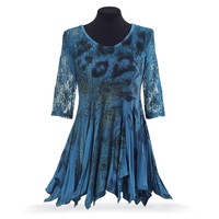 Peacock and Lace Tunic - Women's Clothing & Symbolic Jewelry – Sexy, Fantasy, Romantic Fashions
