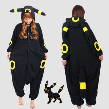 Pokemon Go Kigurumi new anime cartoon  Umbreon Romper Polar Pajamas Cosplay Costume Animal Onesuit Night
