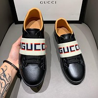 Gucci Fashion Couple Lettering Jacquard Casual Sneakers