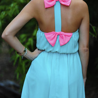 RESTOCK: Tea For Two Dress: Blue/Neon Pink | Hope's