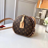DCCK Louis Vuitton LV Women Leather Shoulder Bag Crossbody Satchel Handbag