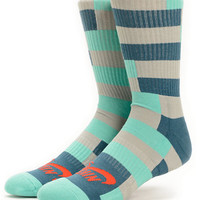 Nike SB Dri-Fit Mint & Grey Striped Crew Socks