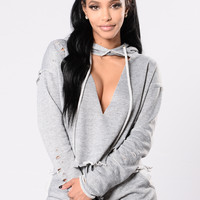 Speed It Up Hoodie - Grey