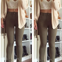 Skinny Pocket Jegging Pants (more colors)- FINAL SALE