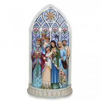 The Light of the World-Holy Family by Cathedral Window Figurine - All Christmas - Christmas
