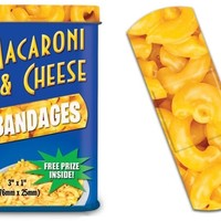 Macaroni and Cheese Band Aids