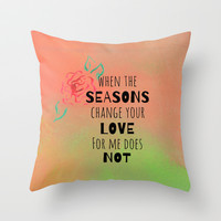 Seasons Throw Pillow by Lauren Lee Designs