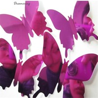 Dreamering New Fashion Wall Stickers Decal Butterflies 3D Mirror Wall Art Home Decors Free Shipping Oct 14