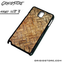 Woven Bamboo Wooden Case For Samsung Galaxy Note 3 Case