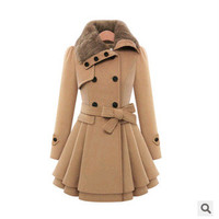 Women's Fashion Slim Double Breasted Thicken Jacket [9126622412]