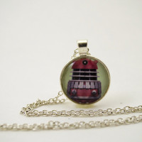 Doctor Who Dalek Pendant Necklace or Keychain