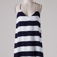 Out Yachting Dress - Navy