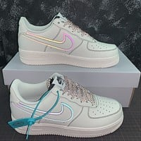 Morechoice Tuhz Nike Air Force 1 07 Low Sneakers Reflective Casual Skaet Shoes 315122-808
