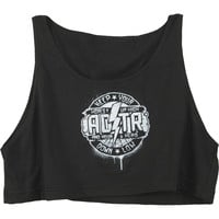 A Day To Remember  Hopes Up High Black Crop Top Girls Jr Black