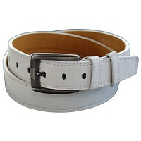 Marshal Genuine Leather Men Casual Jeans Belt, White