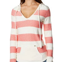 ROXY SOMEWHERE ELSE KNIT - SUGAR CORAL STRIPE