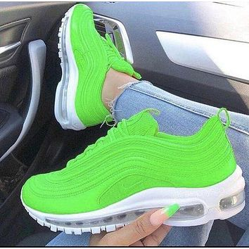 Nike Air Max 97 Series Bullet Full Palm Air Cushion Running Shoes Fashion Men's and Women's Casual Sports Running Shoes Multi-color Optional