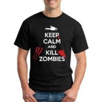 Keep Calm and Kill Zombies | Zombie Hunting Apocalypse Unisex T-shirt