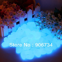 New Newest Decorative Gravel For Your Fantastic Garden or Yard 100 Glow in the Dark Pebbles Stones for Walkway Blue