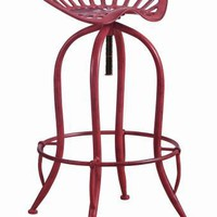Coaster Furniture 104946 ADJUSTABLE BAR STOOL ANTIQUE RED