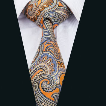 New Arrival Fashion Men`s Tie Paisley NeckTie Silk Jacquard Ties For Men Business Wedding Party