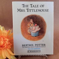 Book The Tale of Mrs. Tittlemouse by Beatrix Potter Original and Authorized Vintage 1987 Illustrated Animal Story Gift Book for Children