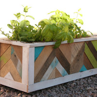 Herbes de Provence Box reclaimed wood planter