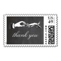 Vintage Thank You Wedding Ring Stamp