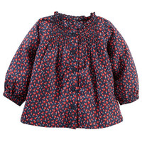 Pin-Tucked Floral Top