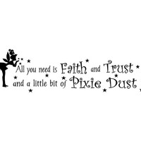 All You Need is Faith and Trust and A Little A Bit of Pixie Dust