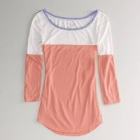 AE Feather Light Colorblock T | American Eagle Outfitters