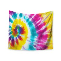 """Sunshine Tie Dye"" Multicolor Swirl Trendy Boho Wall Tapestry"