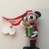 disney parks mickey santa retro with present christmas ornament new with tag
