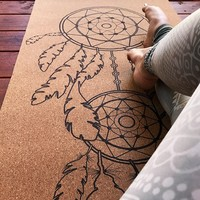 Cork Dream Catcher Mat - Black