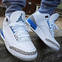 Nike Air Jordan 3 AJ3 UNC Men Basketball Shoes Sneakers Shoes