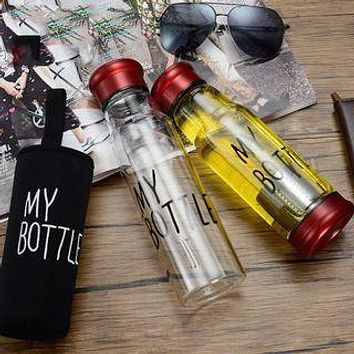 Sports Water Bottle Creative With Portable Glass Tea Cup Set Of Knight Insulation Cup Tea Bottle A Undertakes