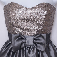 Elise Ryan Bow Prom Dress