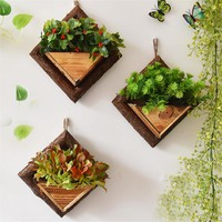 Succulent Plants Wooden Wall Flower Planters