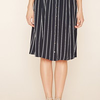 Contemporary Striped Skirt | LOVE21 - 2000160582
