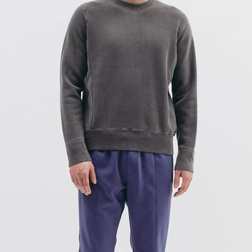 Natural Dyed Crew Fleece Charcoal