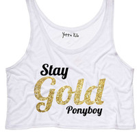 Stay Gold Crop Tank Top