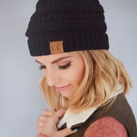 Powder Day Beanie Black