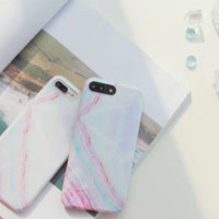 Fashion colorful marbling plastic Case Cover for Apple iPhone 7 7Plus 6 Plus 6 -05012