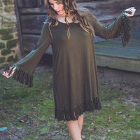 Southern Ties Dress in Olive