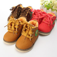 New Baby Girls Boys Kids Martin Snow Boots Children Cotton Oxfords Shoes Winter = 1930544260