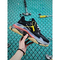 Balenciaga Triple S Clear Sole Trainers Black/Pink