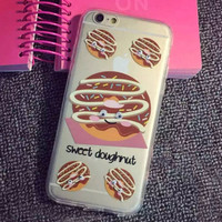 Limited Edition Sweet Doughnut Silicone iPhone 5s 6 6s Plus creative case Cover Gift